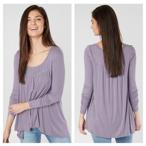 Free People Love Valley Long Sleeve in Lilac ~NWT!